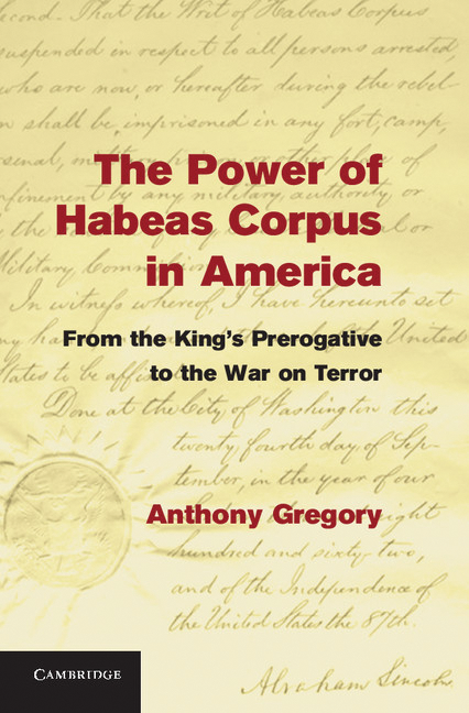 a report on the historical progression of habeas corpus and the war on terror Habeas corpus (ad subjiciendum) is latin for you may have the body (subject to examination) it is a writ which requires a person detained by the authorities be brought before a court of law so that the legality of the detention may be examined.